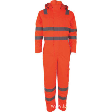 Safety Mens Hi-Vis Reflective Work Cargo Overalls